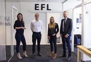 Jenny Sandén och Niclas Wate från Roi Rekrytering och Malena Carlström och Henrik Lundgren från EFL Executive Education